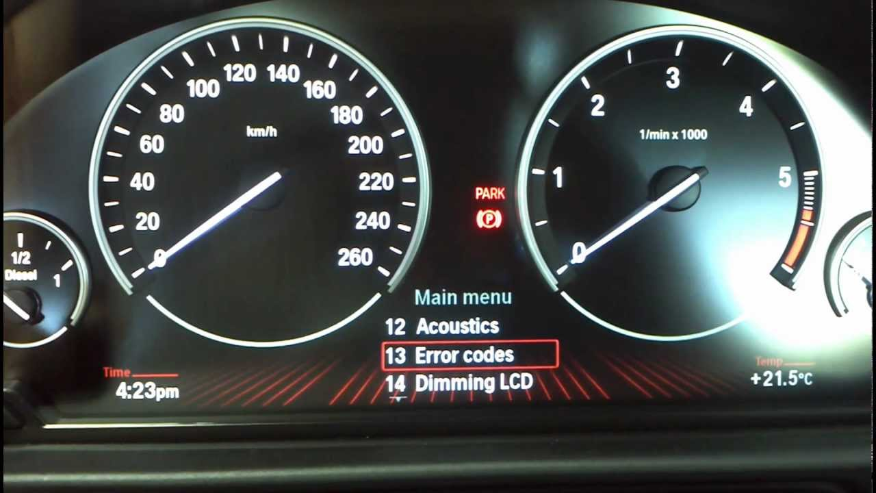 BMW 2 Hidden Menus in CIC any model F01 and later How to