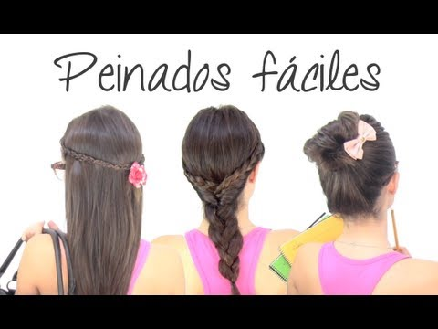 peinados fÁciles para ir a clase - youtube