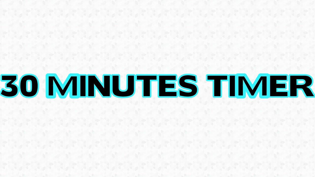 30 minutes countdown timer alarm clock youtube. Black Bedroom Furniture Sets. Home Design Ideas