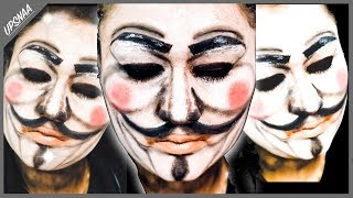 Guy Fawkes Mask Makeup