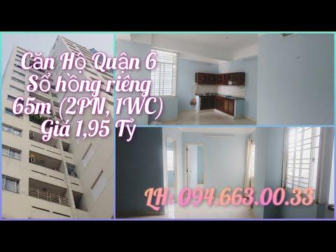 Căn Hộ Quận 6 - Sổ Hông Riêng - 2PN - Giá 1,9 Tỷ