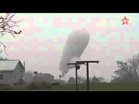 Падающий военный дирижабль сняли на видео в США