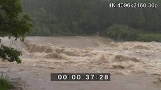 Strong Winds And Raging River - Typhoon Noru 4K Stock Footage thumbnail