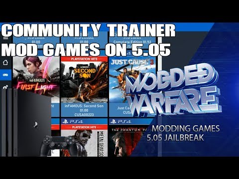 Modding PS4 Games on 5.05 (Community Trainer Tutorial)