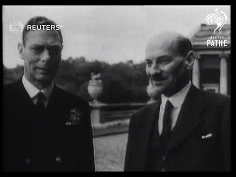 Prime Minister Attlee at Buckingham Palace (1945)