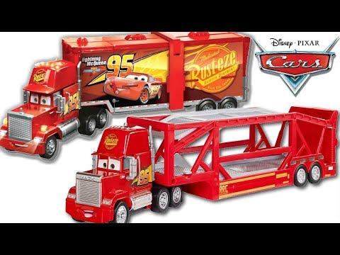 Disney Mack Hauler Supertrack Transporter Truck Next Gen Piston Cup Racers Lightning Jackson Cruz