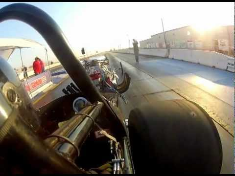 Front engine dragster run