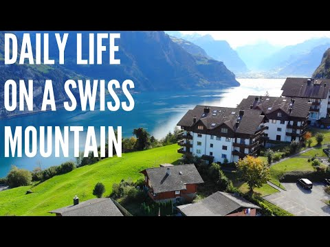 Life on a mountain top village in Switzerland.
