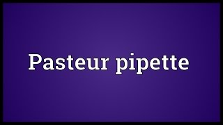 Pasteur pipette Meaning