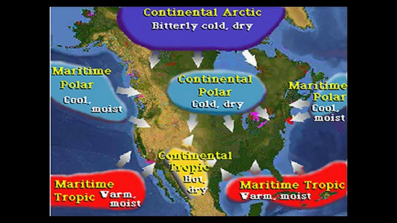 Air Masses And Fronts YouTube - Us air moisture map