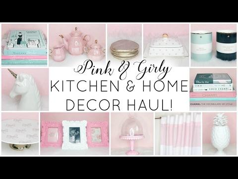 GIRLY KITCHEN & HOME DECOR HAUL! ♡ HomeGoods, TJ Maxx, Marshalls, Target & Amazon