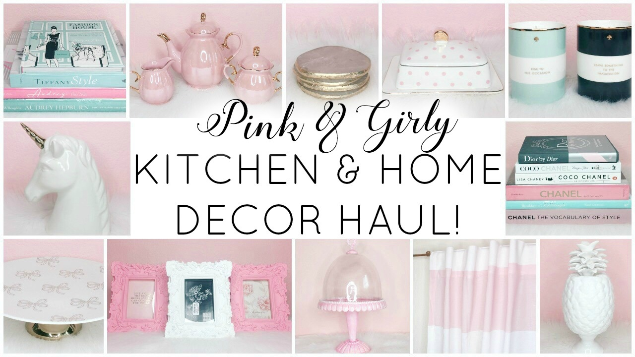 amazon home decor haul girly kitchen amp home decor haul homegoods tj maxx 10342