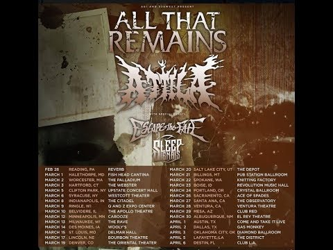 All That Remains and Attila co-headlining U.S. tour w/Escape The Fate and more!