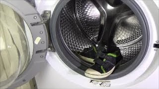 Test - Shoes in a washing machine - Clean dirty shoes with paint spots in washer - example movie #39