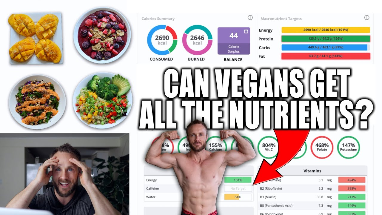 What I Eat To Stay Fit & Healthy   Vegan Nutrient Analysis + MACRO'S!