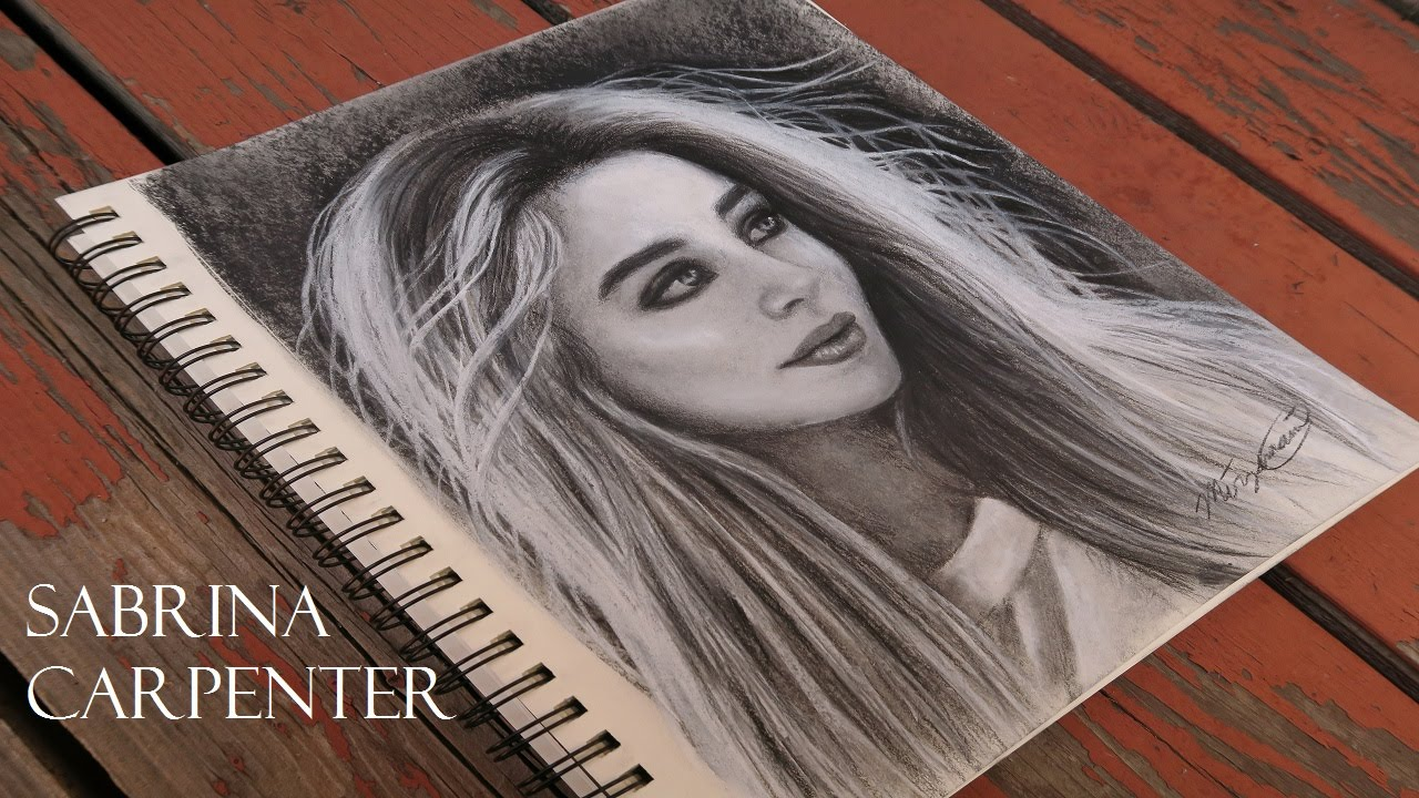 How to draw sabrina carpenter on purpose youtube