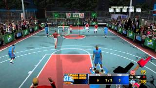 "East v West on ""PS2"" Rucker Park - NBA Street 2K14 Mod for PC (Raw Gameplay)"