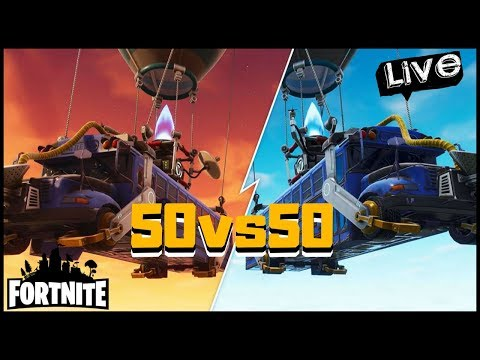 FORTNITE BATTLE ROYALE 50 VS. 50 MY HITTERS VS YOURS PULL UP!!!!!