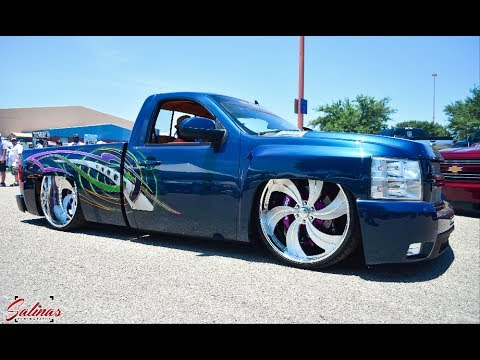 TURBO BAGGED TUCKING 28x12s! One of the MOST CUSTOMS BAGGED CHEVY SILVERADOS? - YouTube
