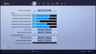 Best Fortnite Console Controller Settings And Sensitivity (Ps4/Xbox)