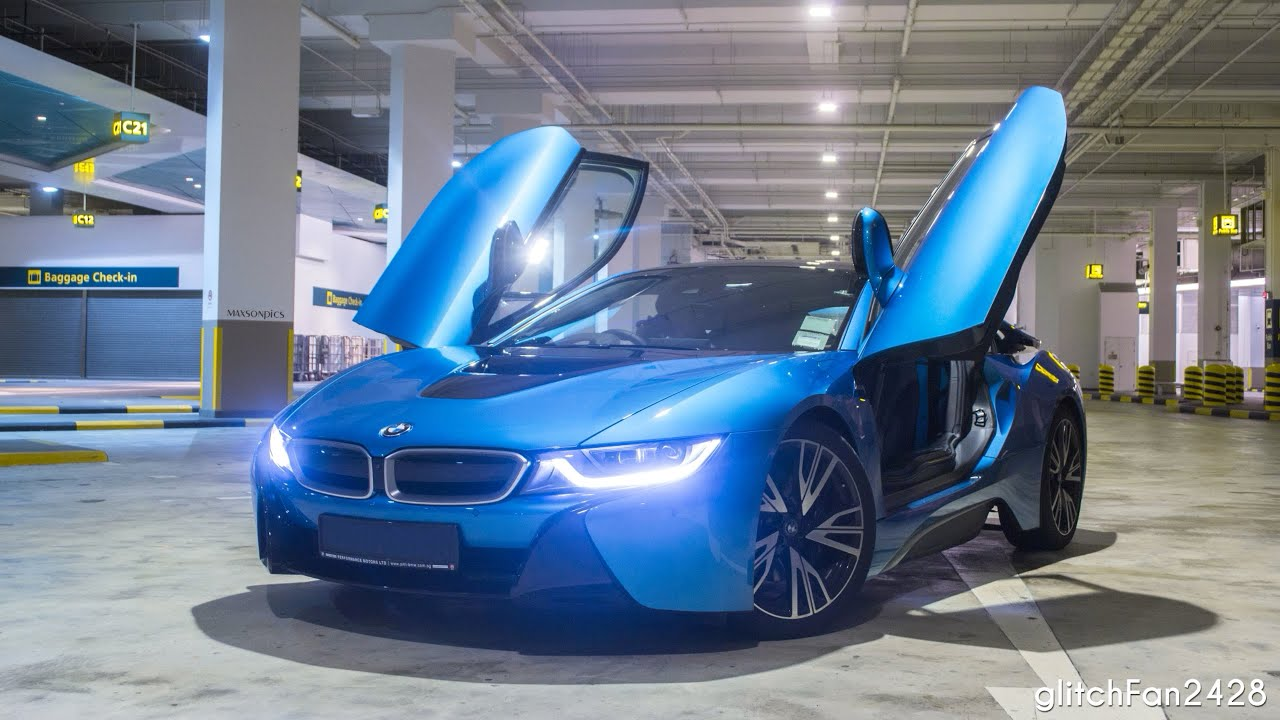 fast ride in a bmw i8 sport electric mode youtube. Black Bedroom Furniture Sets. Home Design Ideas