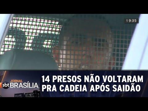 14 presos ainda não voltaram pra cadeia após saidão  | Jornal do SBT Brasília 14/08/2018