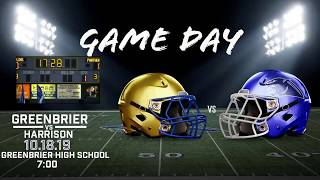 Greenbrier Panther Football vs Harrison