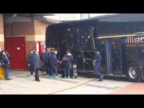 Man Utd Vs Arsenal; Arsenal Team Bus