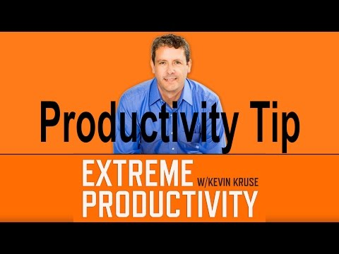 Kevin Harrington's #1 Productivity Tip - Extreme Productivity with Kevin Kruse