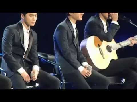 [141030] Music Bank in Mexico - EXO-K singing in spanish (sabor a mi) WITH SUBS