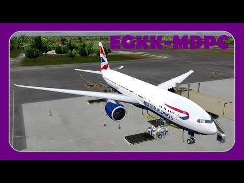 [P3D] BAW2205 | Gatwick-Punta Cana | PMDG 777 | British Airways |