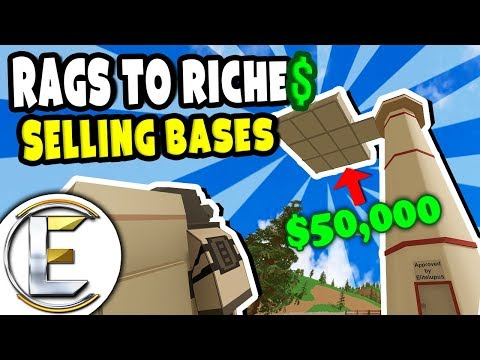 Selling Bases | Unturned Roleplay Survival (Rags to Riches Reboot #31) - Building homes for $ (RP)