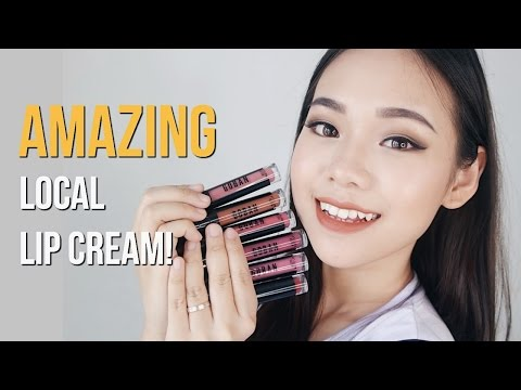 GOBAN Cosmetics Swatches & Review   Indonesian Local Liquid Lipstick