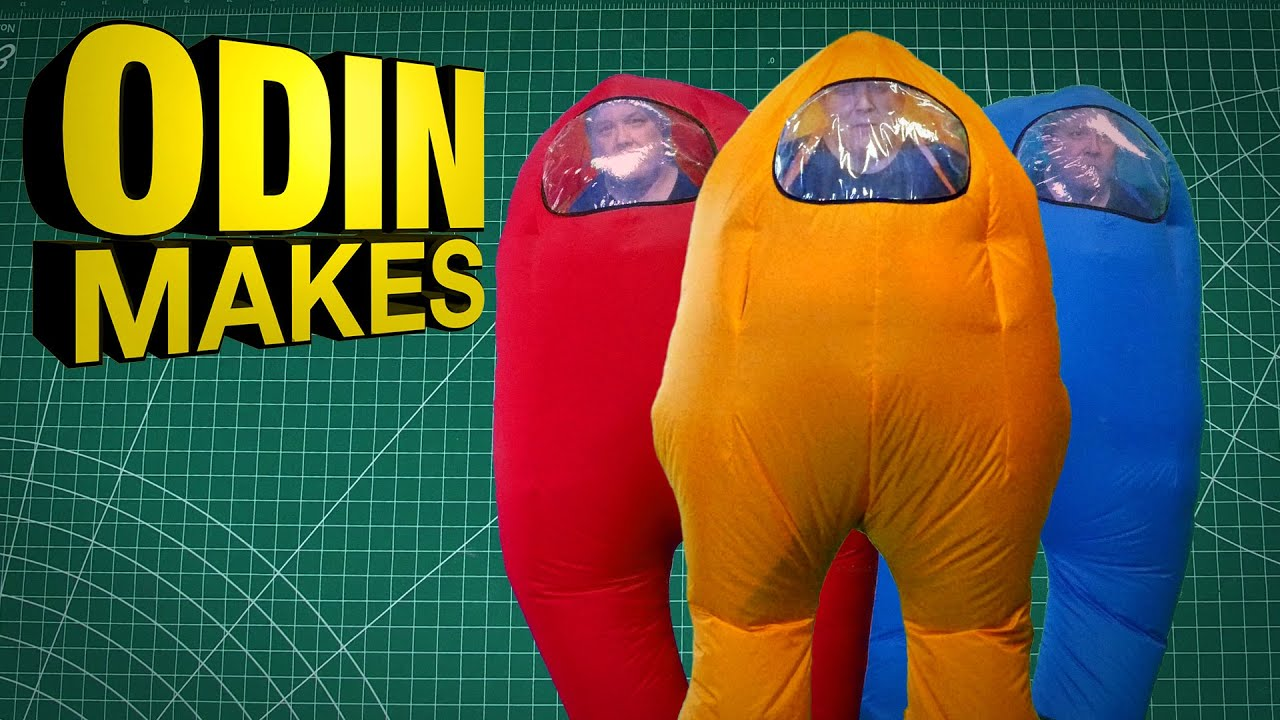Odin Makes The Among Us Spacesuit It S An Inflatable Cosplay Youtube