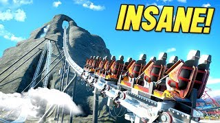 i built a Roller Coaster that BOOSTS over a mountain in Planet Coaster!