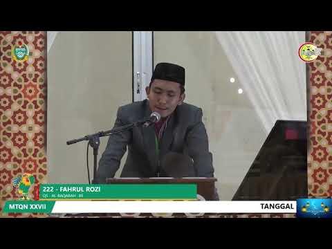 Fahrul Rozi ( Riau )- Finalis Qira'at Sabaah Murottal Remaja MTQ Nasional SUMUT 2018
