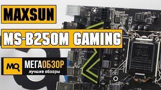 maxsun MS-B250M Gaming обзор материнской платы