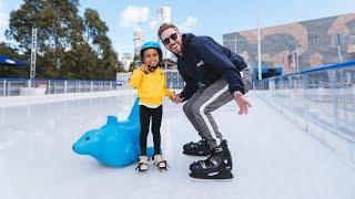 FIRST TIME ICE SKATING!