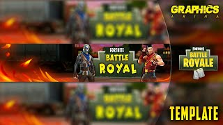 Free Fortnite YouTube banner Template | Fortnite Battle Royal