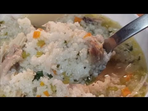 CHICKEN AND RICE SOUP, HOW TO MAKE