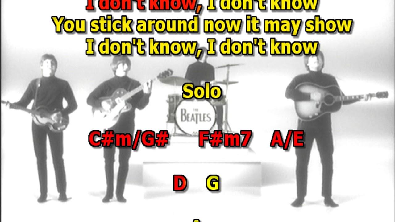 Something Beatles Best Karaoke Instrumental Lyrics Chords Youtube