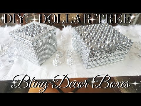 DIY DOLLAR TREE BLING DECOR BOXES 💎 DOLLAR STORE DIY 💎  DIY GLAM ROOM DECOR 💎  TUMBLR INSPIRED