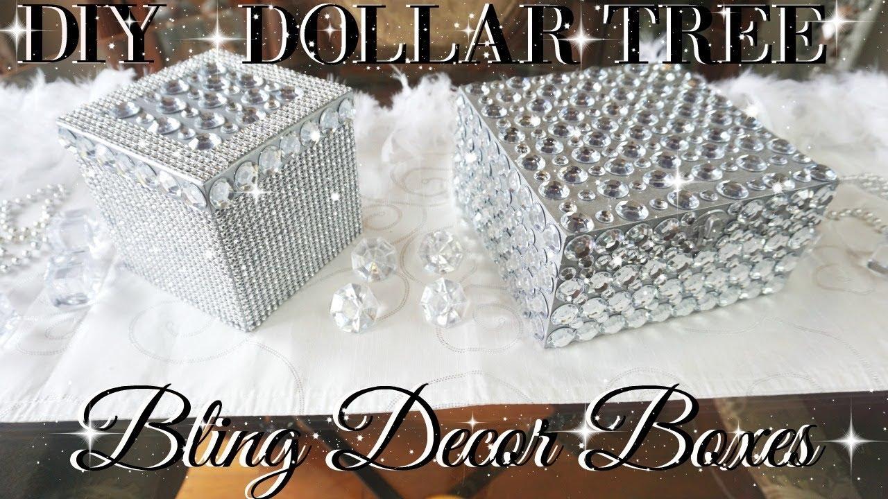 Diy dollar tree bling decor boxes dollar store diy diy for Bling decor