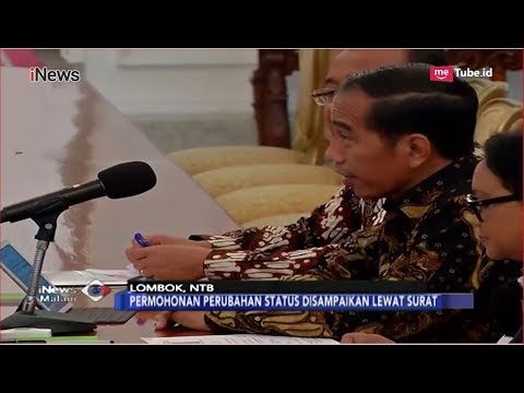 DPRD NTB Kirim Surat ke Jokowi Minta Gempa Lombok Jadi Bencana Nasional - iNews Malam 21/08