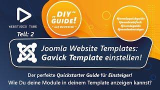 Joomla 3.0 Tutorial - Freies Gavick Template auf Joomla CMS installieren #3