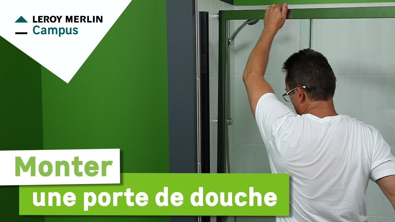 Comment monter une porte de douche leroy merlin youtube for Monter un mur en brique de verre salle de bain