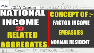 Day-1 National Income and Related Aggregates | National Income Class 12 | Methods of National Income