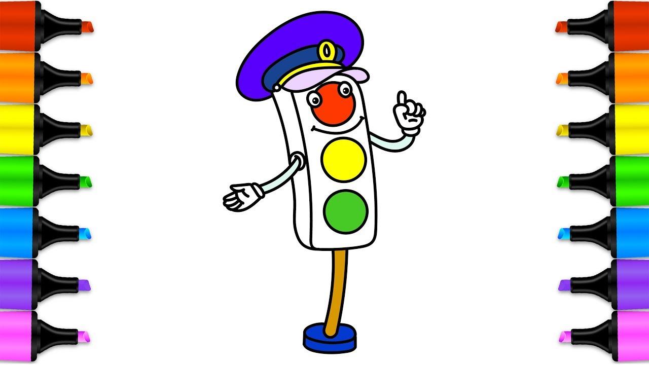 целом рисунок светофора веселого установить