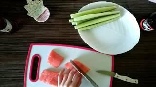 Как я готовлю простые роллы дома🍱 Готовим с Альфией 🌸🌿