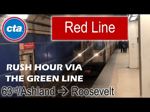 Let's Ride the Rail - CTA Red Line from 63rd/Ashland to Roosevelt via the Green Line
